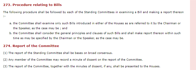 273. Procedure relating to Bills